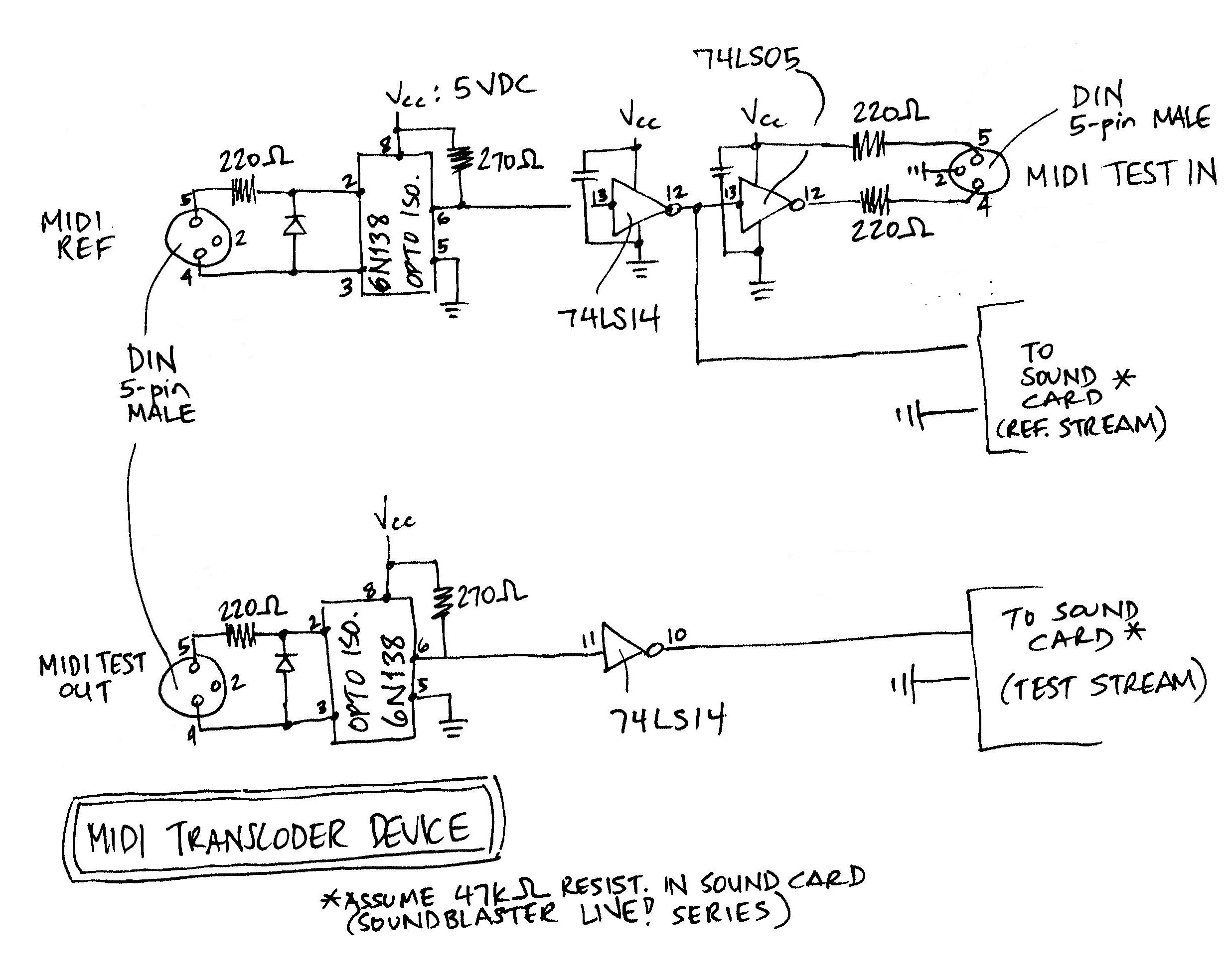 MIDI Transcoder Schematics Download