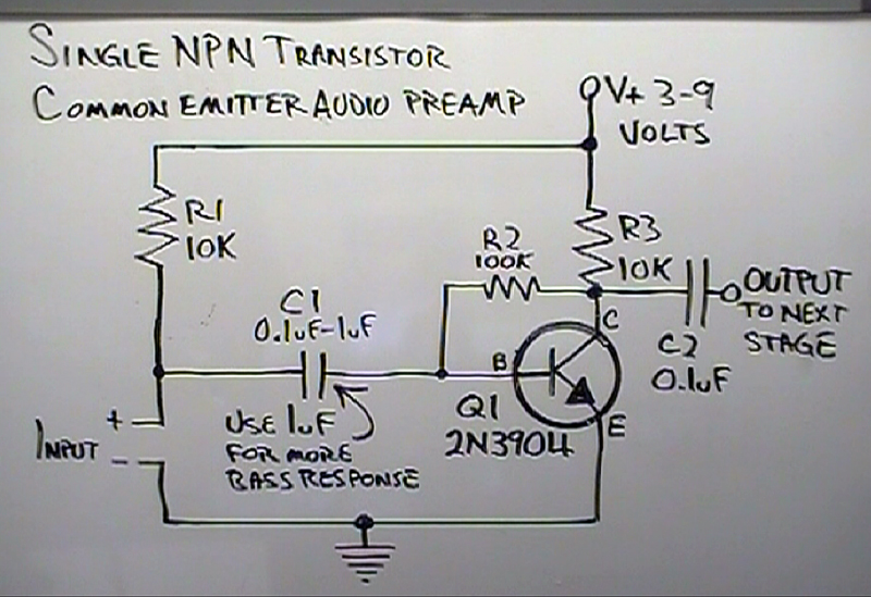 Transistor Preamp Schematic Diagram Download